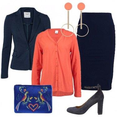 Outfit Un tocco di colore in ufficio