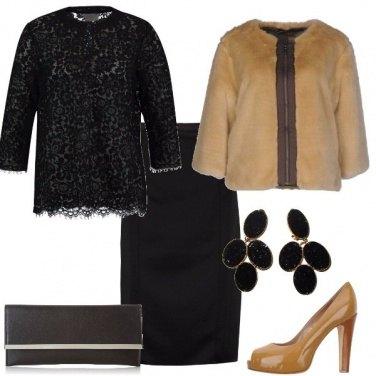 Outfit Cerimonia con l\'ecopelliccia