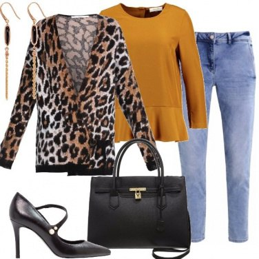 Outfit Cardigan animalier