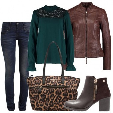 Outfit La shopping bag animalier
