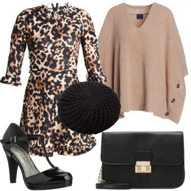 Outfit Animalier e cachemire