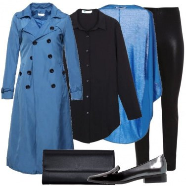 Outfit Trench e mocassini