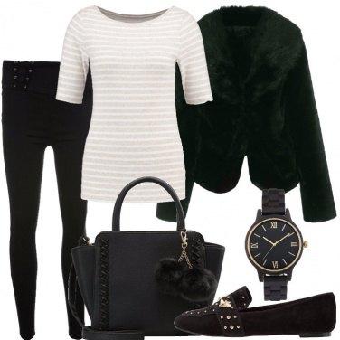 Outfit Lacci e pompon