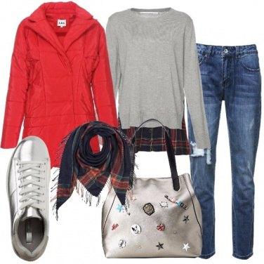 Outfit Silver e tartan
