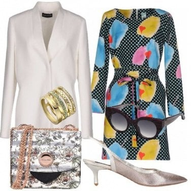 Outfit Borsa a fantasia floreale