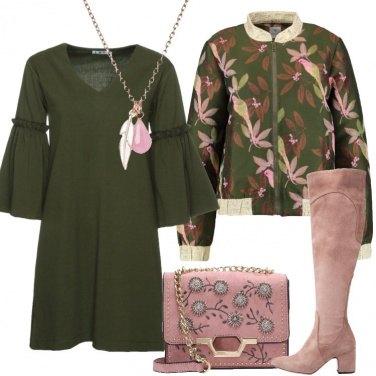 Outfit L\'abito corto oliva