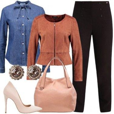 Outfit Con la camicia di jeans