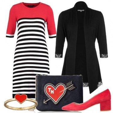Outfit Cuori rossi