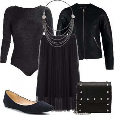 Outfit La gonna di tulle
