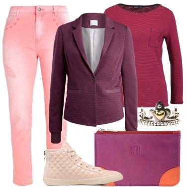 Outfit Rosa e viola