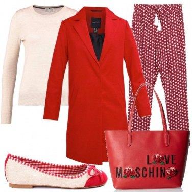 Outfit Il cappottino rosso