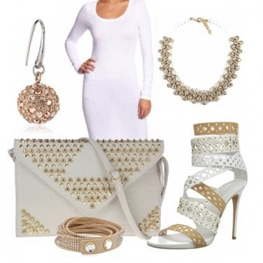 Outfit Gold White