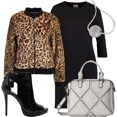 Outfit Il bomber animalier