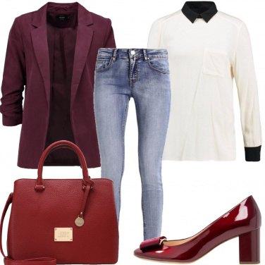 Outfit Il blazer color vino