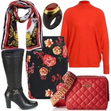 Outfit Il pullover rosso