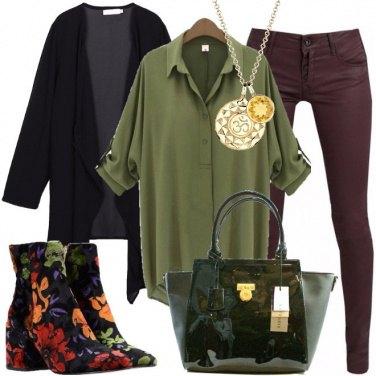 Outfit Velluto e fiori