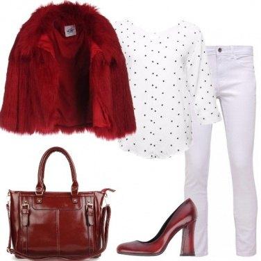 Outfit Con la pelliccia ecologica