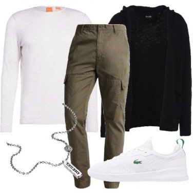 Outfit Pantalone cargo verde militare
