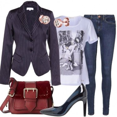 Outfit La mini bag bordeaux