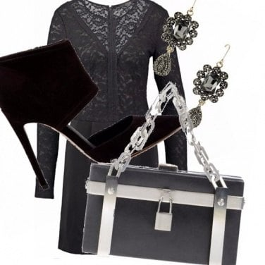 Outfit San valentino con lucchetto...