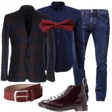Outfit L\'uomo in bordeaux