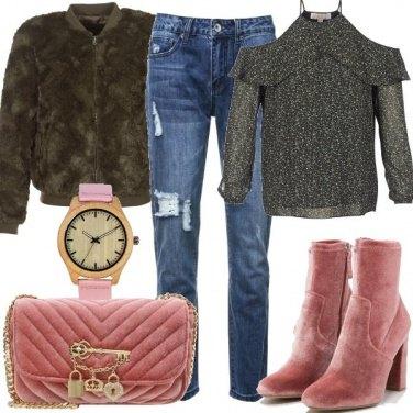 Outfit Stivaletti di tendenza