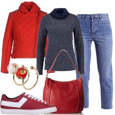 Outfit Tra il rosso e il blu