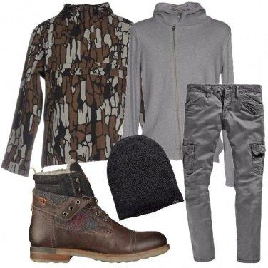 Outfit Cardigan con la zip