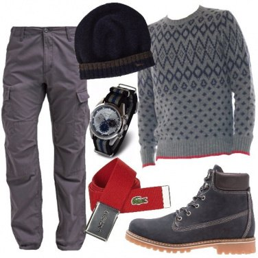 Outfit Cintura rossa