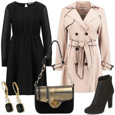 Outfit Vestitino e trench