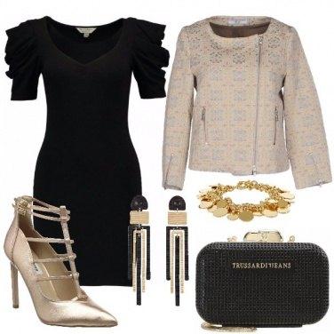Outfit Tubino tacco e clutch