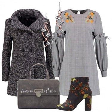 Outfit Il vestito grigio