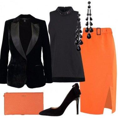 Outfit La gonna arancione