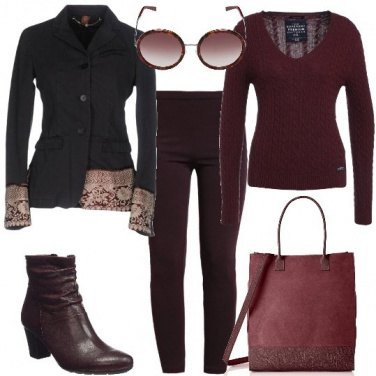 Outfit La giacca con profili damascati