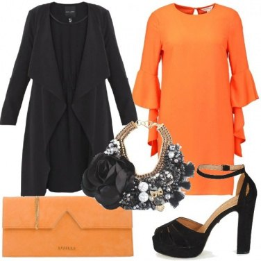 Outfit Arancio e nero
