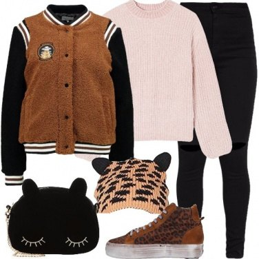 Outfit Il bomber peluche