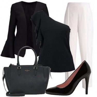 Outfit Bianco contro nero