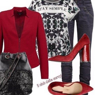 Outfit Il rosso, nero e bianco