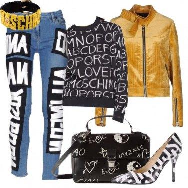 Outfit Nero su bianco