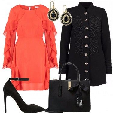 Outfit L\'abito color zucca