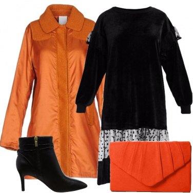 Outfit Arancione e nero