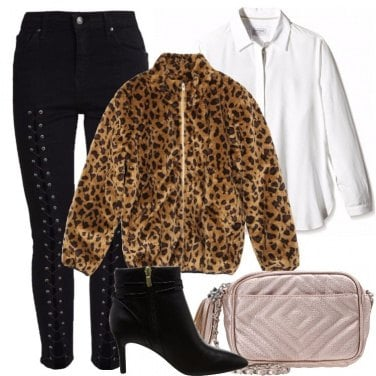 Outfit Giacca leopardata