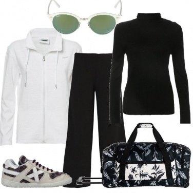 Outfit Fine settimana in bianco e nero
