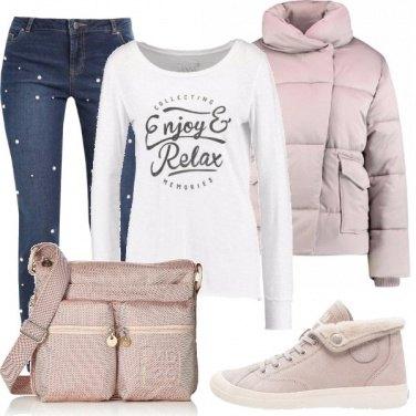 Outfit Un rosa delicato