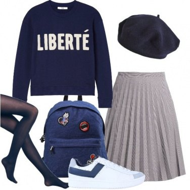 Outfit Stile collegiale