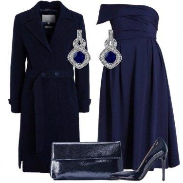Outfit Monospalla in blu
