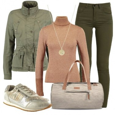Outfit Verde per il week-end