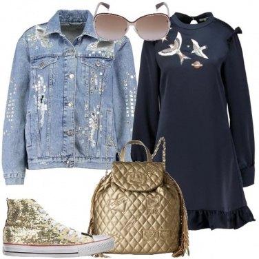 Outfit Giacca in jeans con gli strappi