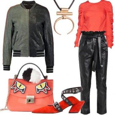 Outfit Il bomber bicolore