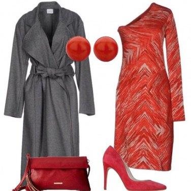 Outfit Abito monospalla rosso